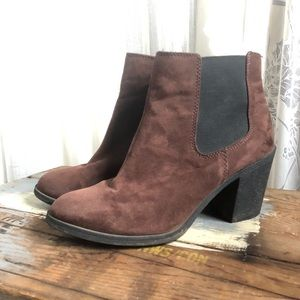 Shoes - Brown Suede Chunky Boots